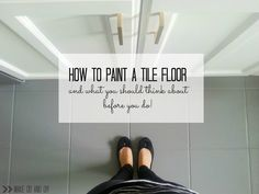 how to paint a tile