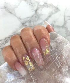 milky marble nails & milky marble nails - milky white marble nails - milky white marble nails acrylic - milky pink marble nails - milky nails with marble Acrylic Nails Natural, Best Acrylic Nails, Marble Nail Designs, Acrylic Nail Designs, Milky Nails, Nagel Bling, Nagellack Design, Water Nails, Aycrlic Nails
