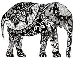 dibujos de elefantes hindues para colorear - Buscar con Google