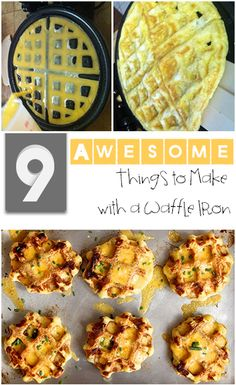 9 Awesome Things to Make with a Waffle Iron- Fun ideas and recipes that are not traditional waffles.  Great for a party, holiday or just breakfast.