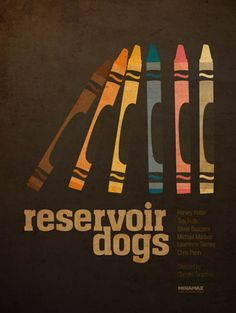 Reservoir Dogs minimalist movie poster by Ibraheem Youssef