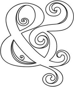 Ampersand design (UTH3233) from UrbanThreads.com