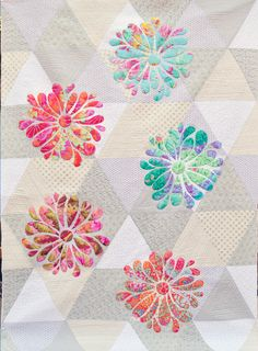 My Flower Bloom applique quilt pattern at Passionately Sewn (Australia)
