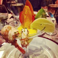 Shrimp Cocktail with Mango Mousse