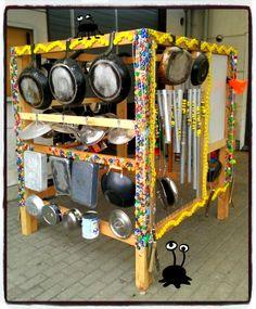 Muziekhoek Veetje Music Instruments Diy, Sound Wall, Outdoor Learning Spaces, Fireworks Festival, Recycled Garden, Art Activities For Kids, Music Fest, Outdoor Classroom, Music Wall