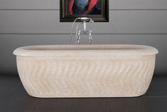 Tivoli white marble bath tubs from our brass Tivoli range. Yellow Bathroom Decor, Yellow Bathrooms, Dream Bathrooms, Amazing Bathrooms, Yellow Marble, Marble Bath, Bathroom Bin, Bathtub, Egyptian