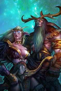 Night elf Druid - Female and Male