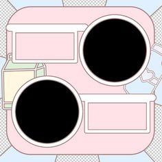 Aesthetic Themes, Aesthetic Girl, Aesthetic Anime, Overlays Cute, Overlays Instagram, Blackpink Funny, Shape Templates, Aesthetic Template, Photoshop