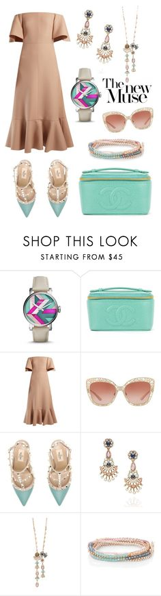 """""""Springs New Muse at stylezbybee.com"""" by stylez-by-bee ❤ liked on Polyvore featuring FOSSIL, Chanel, Valentino, Dolce&Gabbana and Chloe + Isabel"""