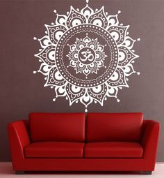 Hey, I found this really awesome Etsy listing at https://www.etsy.com/listing/227253490/mandala-wall-decal-sticker-yoga-om