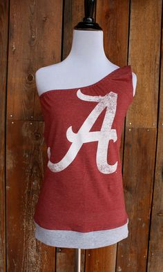 University of Alabama Roll Tide One Shoulder Top - Size Small