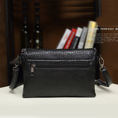 Details about  /Retro Alligator Boston Bag Women Handbag Shoulder Messenger Bags Ladies Pu Purse
