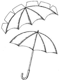 Umbrella Craft Templates