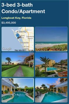 3-bed 3-bath Condo/Apartment in Longboat Key, Florida ►$3,495,000 #PropertyForSale #RealEstate #Florida http://florida-magic.com/properties/2781-condo-apartment-for-sale-in-longboat-key-florida-with-3-bedroom-3-bathroom
