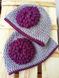 La ventana azul: 132.- Gorros a crochet Crochet Hats, Knitting, Pink, Blue Nails, Beanie Babies, Chain Stitch, Knitting Hats, Tricot, Breien