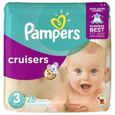 Pampers Cruisers Diapers, Size 5 Jumbo Pack 21 ea (Pack of Cuties Diapers, Baby Wind, Cruisers, One Month Baby, Diaper Brands, Diaper Pail, Newborn Diapers, Diaper Sizes, Disposable Diapers