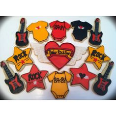 Allie's Sweet Tooth's Rock and Roll Baby Shower cookies