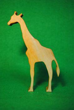 Wood giraffe - Wooden Toy - Wooden giraffe - giraffe Toy - Wood Toy - Toy Animals - Waldorf Toy - Wooden Animals - Wild giraffe