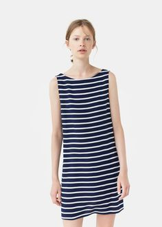 Striped dress   MANGO