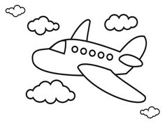 Airplane Coloring Pages Airplanes Pictures For Kids – Viewing Gallery For – Easy Airplanes Wallpaper drawing for kids Airplane Coloring Pages, Easy Coloring Pages, Coloring Pages To Print, Free Printable Coloring Pages, Coloring Pages For Kids, Coloring Books, Kids Coloring, Airplane Doodle, Airplane Kids