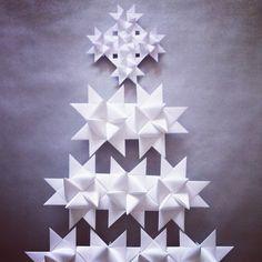 DIY origami star / paper christmas tree  by ephemere etc