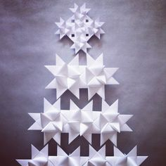 DIY origami star / paper christmas tree  by ephemere etc