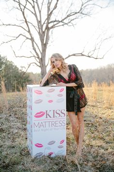 Kiss Mattress delivered to your door. Lingerie Model Not Included.
