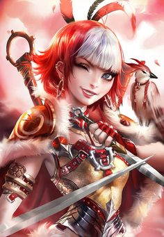 Fantasy and science fiction: Bild Anime Art Fantasy, Fantasy Comics, Fantasy Girl, The Elder Scrolls, Kpop Fanart, Fantasy Characters, Female Characters, Mythological Characters, Character Concept