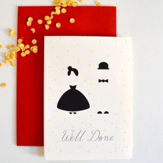 Mr & Mrs Well Done Paper goods from Wedding Paper, Paper Goods, Playing Cards, Stationery, Design, Papercraft, Paper Mill, Playing Card Games, Office Supplies