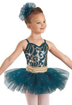 Weissman™ | Sequin Brocade Satin Tutu Dress