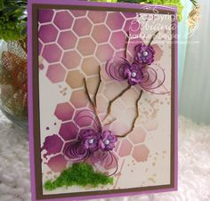 "by Stamping with Bibiana: Card for Any Occasion with Some ""Quilling""! featuring Memory Box dies and stencils"