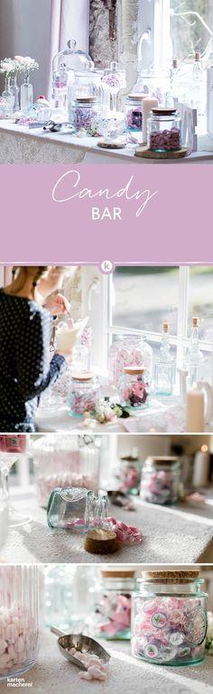 Für die Kleinen und Großen für eure Hochzeit: Eine Candybar lädt zum Naschen ein und ist ein echter Hingucker. Lasst euch von einer verträumten Hochzeit im Vintage Look inspirieren.