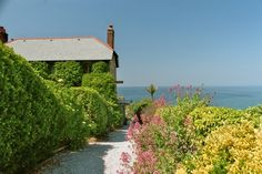 In St. Agnes at the north Cornwall coast in England