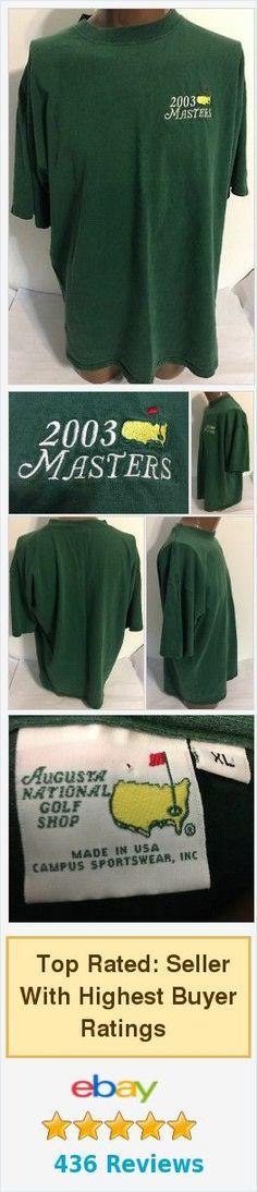 ⛳️ 2003 #Masters #AugustaNational Golf Shop Green Tshirt Size XL ⛳️ http://www.ebay.com/itm/2003-Masters-Augusta-National-Golf-Shop-Green-Tshirt-Size-XL-/371959581814 #GreatSecretsofGolf
