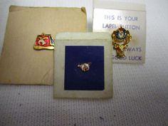Lot of 3 Vintage Elks Masons Shriners Lapel Pins Masonic Pin