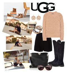 """""""The New Classics With UGG: Contest Entry"""" by ali-baly on Polyvore featuring UGG, DKNY, Valentino, Larkspur & Hawk, Wildfox, Balmain, Clarins, INC International Concepts and ugg"""