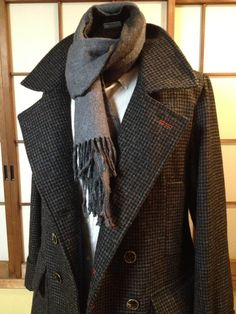 """Somebody made this. """"Custom-made Sherlock coat and scarf"""" Another definite when-I-have-a-dress-form project..."""