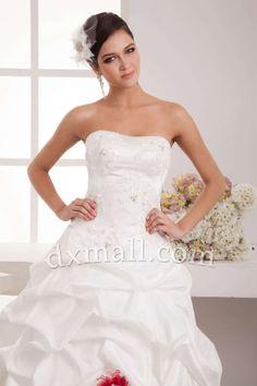 Ball Gown Wedding Dresses Sweetheart Floor Length Taffeta Satin Ivory 010010200714