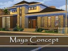 Maya Concept house by Byahbh at TSR via Sims 4 Updates