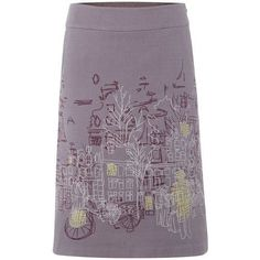 White-Stuff-Urban-Sketch-Skirt-uk-16-BNWT-Embroidered-Lined