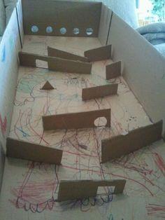 DIY Cardboard Ball Game