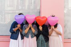 EVJF / bachelorette party heart balloons