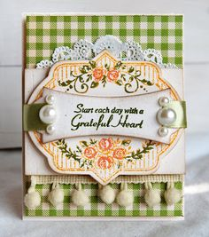 Uses @Marsha Grove Papercraft, Inc.new stamp set, Vintage Rose Medallions and @Hanna Hutch-Garra's Ribbon Tag Trio and  the Nested Oval Die