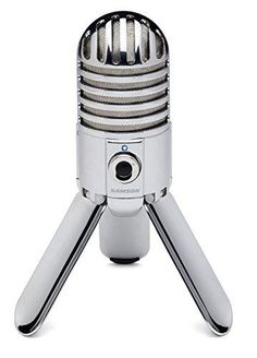 Samson Meteor Mic USB Studio Condenser Microphone with MD5 Desktop Mic Stand and PS04 Pop Filter