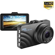 Dash Cam with WDR 1080P HD Dashboard Camera Recorder with Night Vision, 140°Wide Angle,G-Sensor,Loop Recording,Parking Monitor (E73)