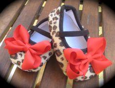 Rockabilly Baby Girl Cheetah Crib Shoe's by RockkandyKids on Etsy, $11.00