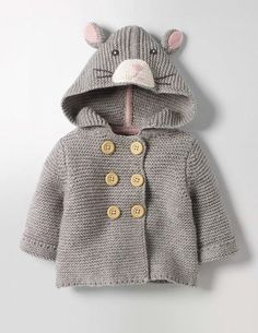 love the hood on this knitted kids jacket Fun Animal Knitted Jacket (I receive a tiny commission if you click through this link) Baby Cardigan Knitting Pattern, Baby Knitting Patterns, Girls Sweaters, Baby Sweaters, Toddler Sweater, Baby Coat, Knit Jacket, Bear Jacket, Jacket Pattern