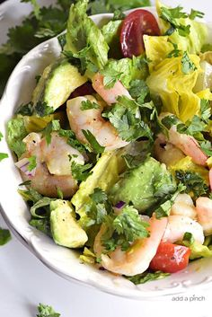 This Cilantro Lime Shrimp Avocado Salad recipe has all the flavors of summer in every delicious bite! So quick and easy to toss together and perfect for a lunch or a light supper! This past weekend, we were in sunny Florida and all that gorgeous weather had me craving summery dishes like this salad. When I...