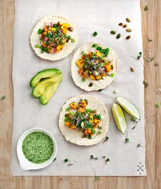 Oh yes #vegan! Miso-maple sweet potato tacos #recipe by @Lovelemonsfood