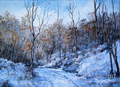 Snowy Road by Virginia Potter